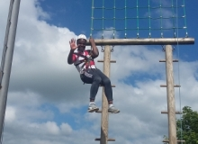 Climing-the-Gladiator-Challenge-at-Ballyhass-Activity-Centre-on-Diocesan-Confirmation-Weekend